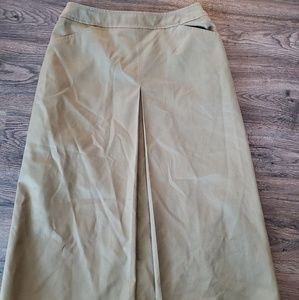 *SALE*  Burberrys Retro olive green A-Line skirt